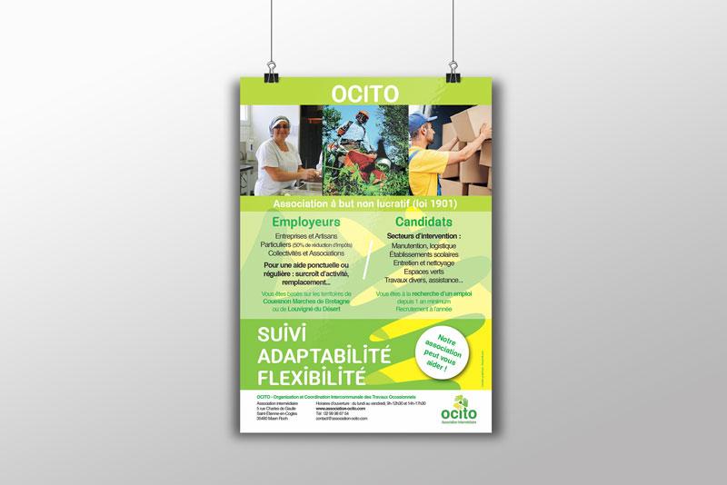 affiche A3 et A2 pour l'association Ocito