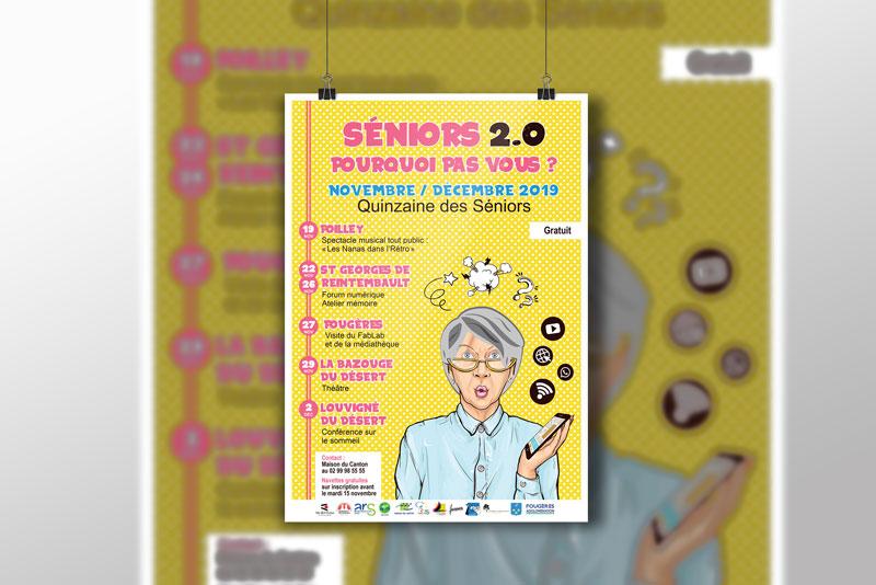 affiche, dépliant et programme pour un évènement annuel