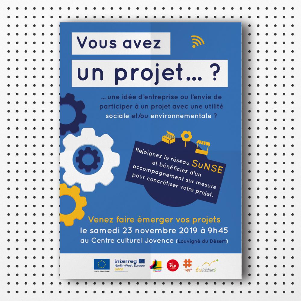 affiche imprimée projet européen SuNSE