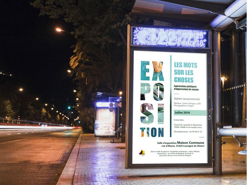 affiche pour exposition artistique (photographies sur les voyages)