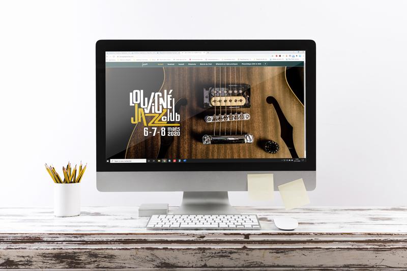 création du site web responsive du Louvigné Jazz Club
