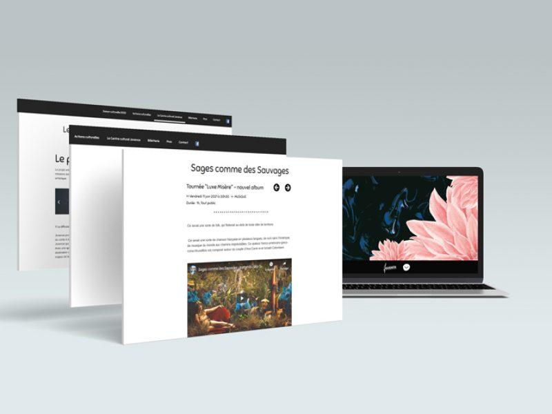 création du site web personnalisé du centre culturel Jovence